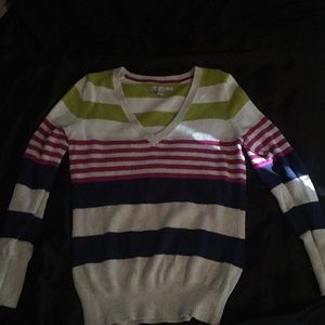 Multi-Colored Striped Sweater From Old Navy